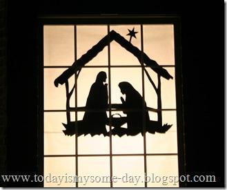 Window Nativity Silhouette 1